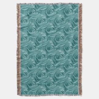 花の自然の写真の鮮やかな水のバラの抽象芸術 スローブランケット