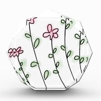 花の花のカスタムは記念日を個人化します 表彰盾