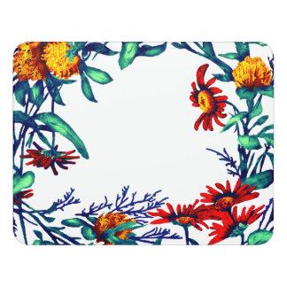 花の花のリースは植物の園芸を植えます ドアサイン
