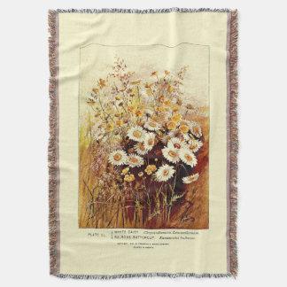 花の花の野生の花のデイジーのブランケット スローブランケット