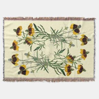 花の花の野生の花のConeflowersのブランケット ブランケット