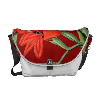 花の花のGladiolasの人力車のメッセンジャーバッグ クーリエバッグ