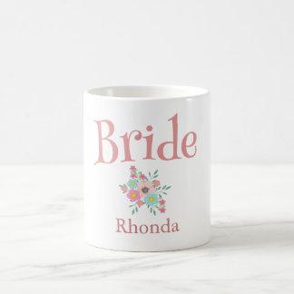 花の花嫁の花束 コーヒーマグカップ