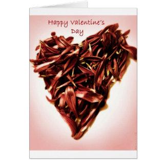 花の花弁のバレンタイン カード