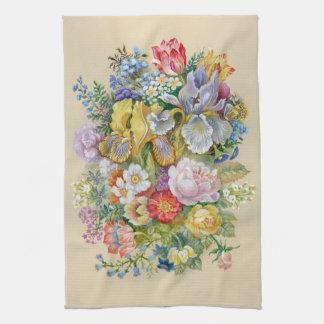 花の花束の台所タオル キッチンタオル