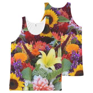 花の花束 オールオーバープリントタンクトップ