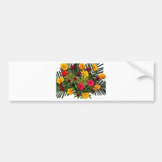 花の花束 バンパーステッカー
