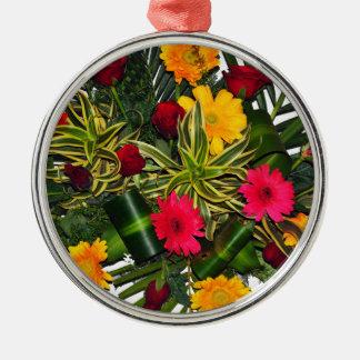花の花束 メタルオーナメント