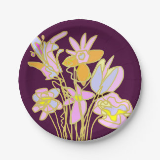 花の花束 紙皿 小
