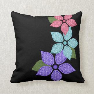 花の花柄の枕 クッション
