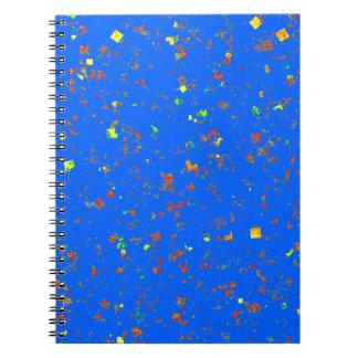 花の花花束青く白いパターン質 ノートブック