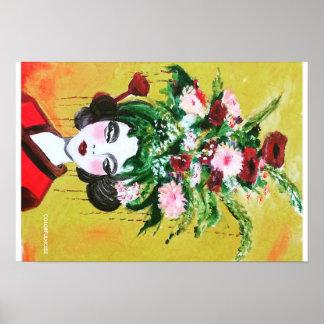 花の芸者ポスタープリント ポスター