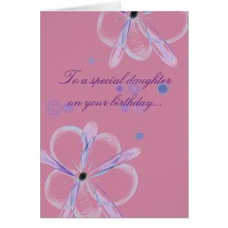 花の芸術の娘のバースデー・カード カード