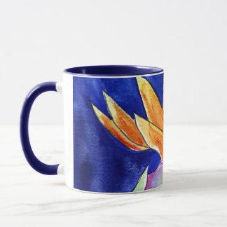 花の芸術の絵画のマグまたはコップ極楽鳥 マグカップ