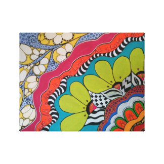 花の芸術-六十年代のvibeの花及びデザイン キャンバスプリント