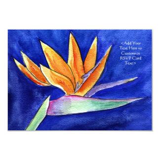 花の芸術RSVPの招待状カード極楽鳥 カード