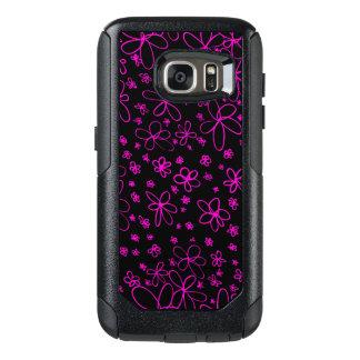 花の落書きのピンク オッターボックスSamsung GALAXY S7ケース