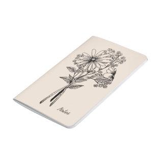 花の落書きジャーナル ポケットジャーナル