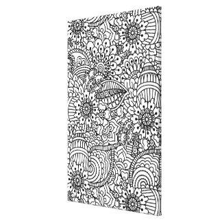 花の落書き6 キャンバスプリント