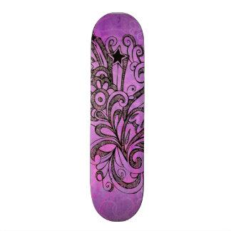 花の落書き カスタムスケートボード