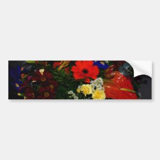花の虹の花束 バンパーステッカー