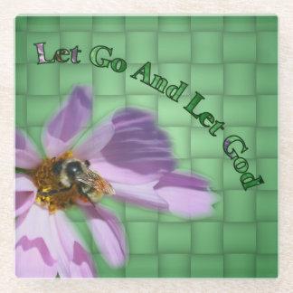 花の蜂は感動的な神を可能にしました ガラスコースター