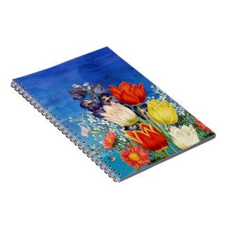花の蝶ハチドリ ノートブック