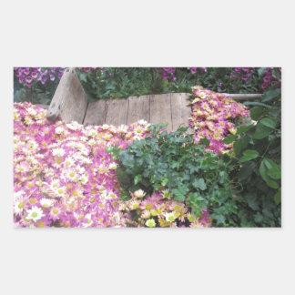 花の蝶庭のベガスのエレガントなカラフルgif 長方形シール
