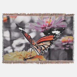 花の蝶 スローブランケット