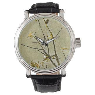 花の装飾的な自然 腕時計