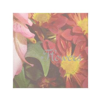 花の装飾的な花の装飾の写真静かに キャンバスプリント