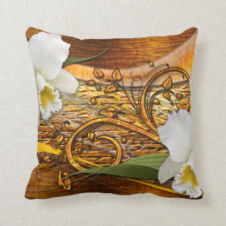 花の装飾3の枕 クッション