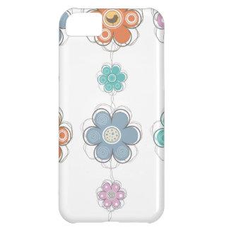 花の装飾 iPhone5Cケース