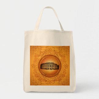 花の要素が付いているボタンのColosseum トートバッグ