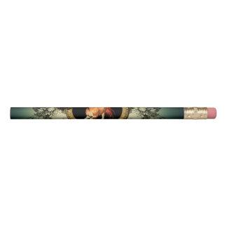 花の要素が付いている円のすばらしい馬 鉛筆