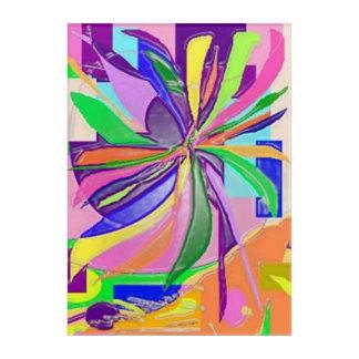花の覆いの芸術板 アクリルウォールアート