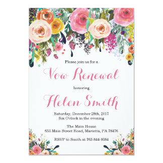 花の誓約の更新の招待状カード カード