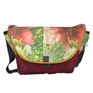 花の財布の花束 メッセンジャーバッグ