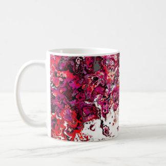 花の赤い渦巻デザイナーマグ コーヒーマグカップ