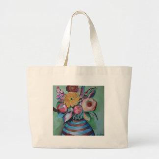 花の酒宴 ラージトートバッグ