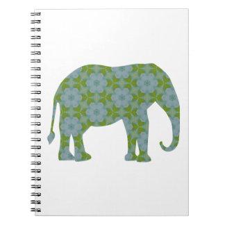 花の野生象 ノートブック