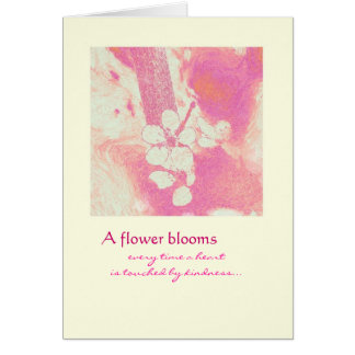 -花の開花ありがとう カード