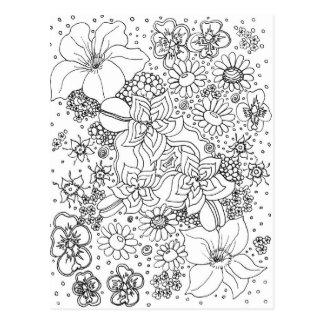 花の集まり ポストカード