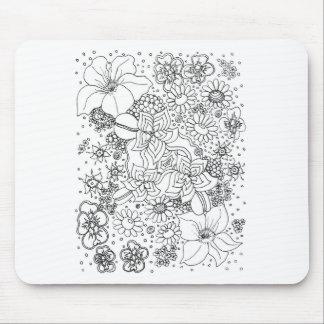 花の集まり マウスパッド