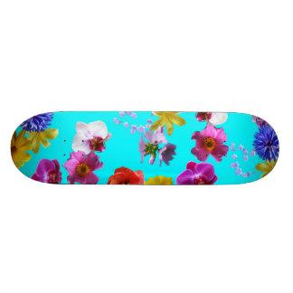 花の青いスケートボード 21.6CM オールドスクールスケートボードデッキ