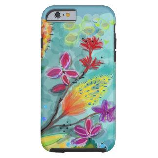 花の青い分野 iPhone 6 タフケース