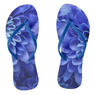 花の青 ビーチサンダル