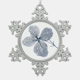 花の骨組~のピューターのオーナメント スノーフレークピューターオーナメント