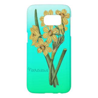 花の黄色いスイセンのヴィンテージの花束 SAMSUNG GALAXY S7 ケース