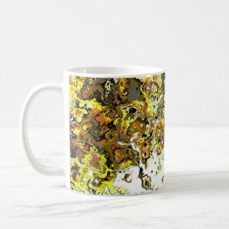 花の黄色い渦巻デザイナーマグ コーヒーマグカップ